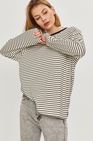 Answear Lab - Tričko s dlhým rúkavom dámské biela S