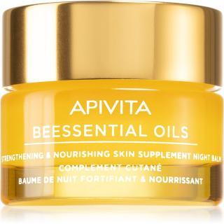 Apivita Beessential Oils nočný pleťový balzam pre výživu a hydratáciu 15 ml dámské 15 ml