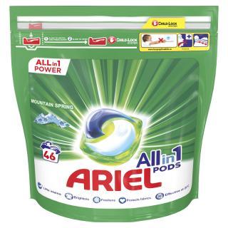 ARIEL All-In-1 PODs Kapsule na pranie Mountain Spring, 46 pranie