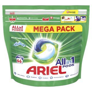 ARIEL All-In-1 PODs Kapsule na pranie Mountain Spring, 66 pranie