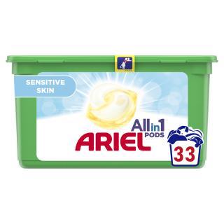 ARIEL Allin1 Sensitive gélové kapsuly na pranie 33 pd