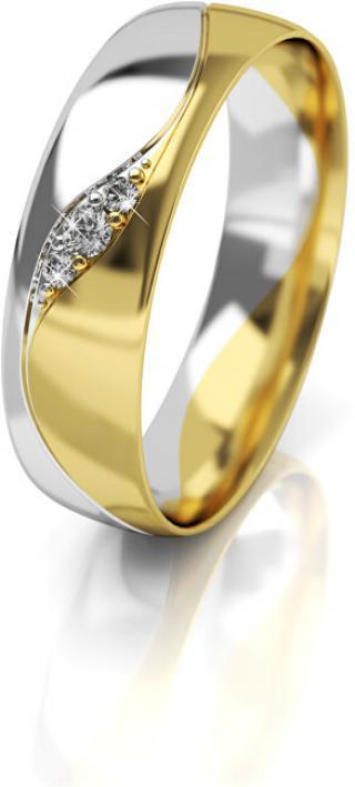 Art Diamond Dámsky bicolor snubný prsteň zo zlata so zirkónmi AUG276 58 mm dámské