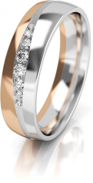 Art Diamond Dámsky bicolor snubný prsteň zo zlata so zirkónmi AUGDR002 58 mm dámské