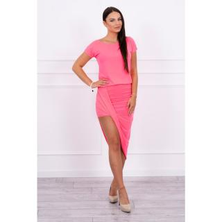 Asymmetric dress pink neon dámské Neurčeno One size