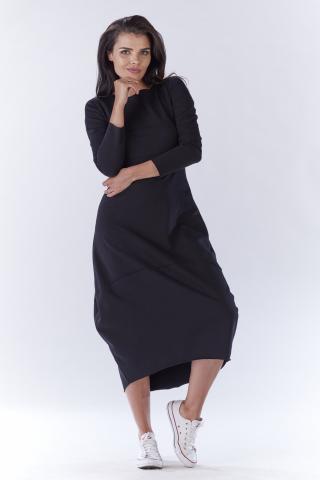 Awama Womans Dress A191 dámské Black S