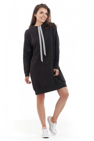 Awama Womans Dress A212 dámské Black One size