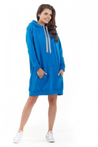 Awama Womans Dress A212 dámské Blue One size