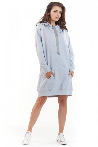 Awama Womans Dress A212 dámské Grey One size