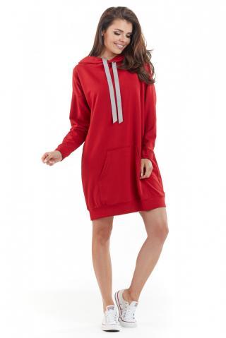 Awama Womans Dress A212 dámské Red One size