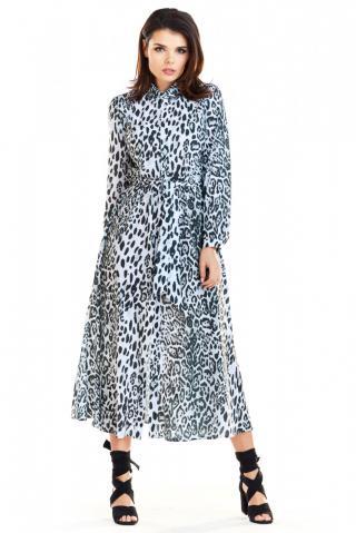 Awama Womans Dress A262 Black/White dámské dwukolorowy XL