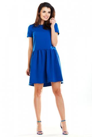 Awama Womans Dress A277 dámské Blue S