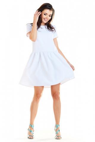 Awama Womans Dress A277 dámské White S