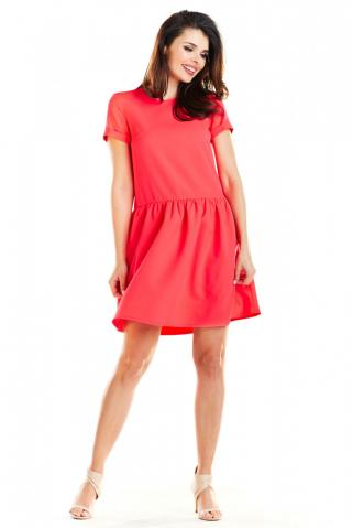 Awama Womans Dress A277 Fuchsia dámské Pink S