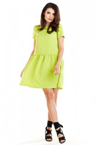 Awama Womans Dress A277 Lime dámské Green S