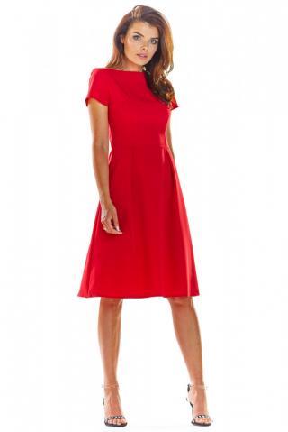 Awama Womans Dress A282 dámské Red S