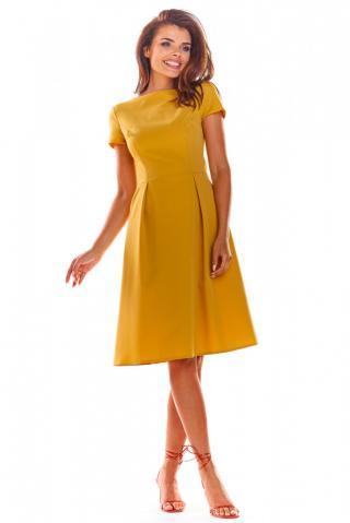 Awama Womans Dress A282 dámské Yellow S