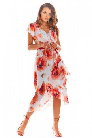 Awama Womans Dress A308 dámské Red S