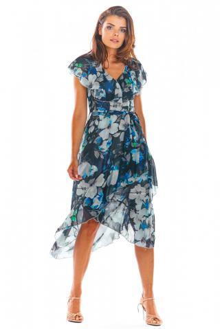 Awama Womans Dress A308 Navy Blue dámské S