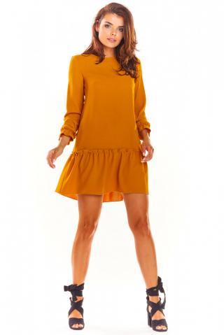 Awama Womans Dress A310 Caramel dámské Brown XL