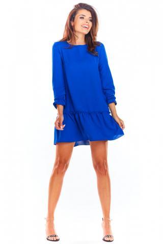 Awama Womans Dress A310 dámské Blue S