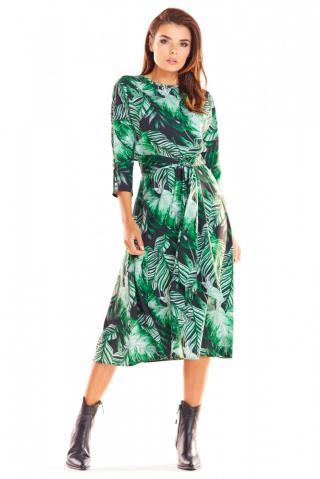 Awama Womans Dress A313 dámské Green S