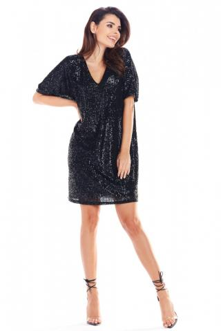 Awama Womans Dress A347 dámské Black One size