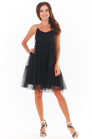 Awama Womans Dress A356 dámské Black L