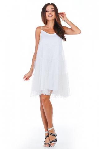 Awama Womans Dress A356 dámské White S