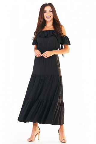 Awama Womans Dress A358 dámské Black S