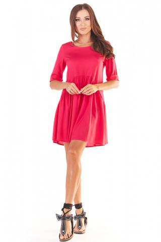 Awama Womans Dress A360 Fuchsia dámské Pink S