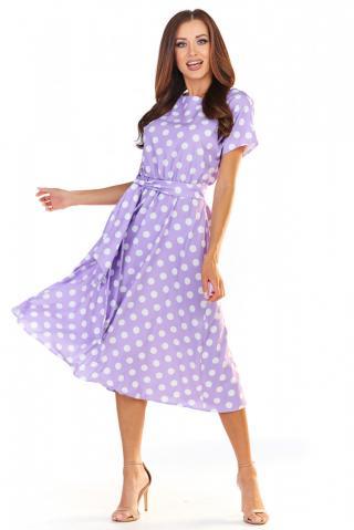 Awama Womans Dress A361 Purple dámské Violet S