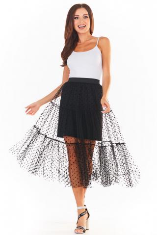 Awama Womans Skirt A354 dámské Black L