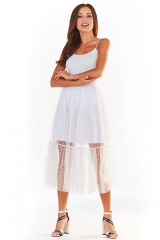 Awama Womans Skirt A354 dámské White L