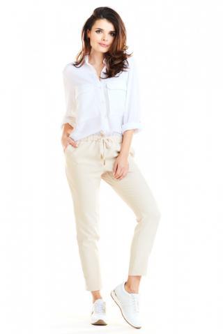 Awama Womans Trousers A270 dámské Beige L