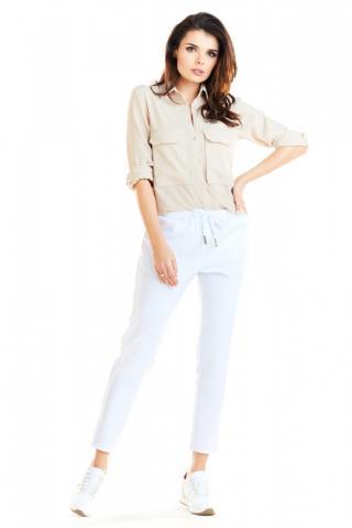 Awama Womans Trousers A270 dámské White XL