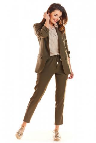 Awama Womans Trousers A270 Khaki dámské Green XL