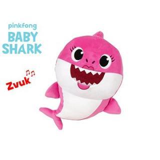 Baby Shark Spandex 27 cm plyšový na batérie so zvukom ružový 0m  vo vrecku