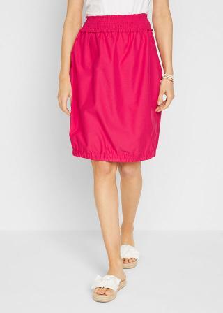 Balónová sukňa s nariaseným pásom dámské ružová 38,40,42,44,46,48,50,52,54,56