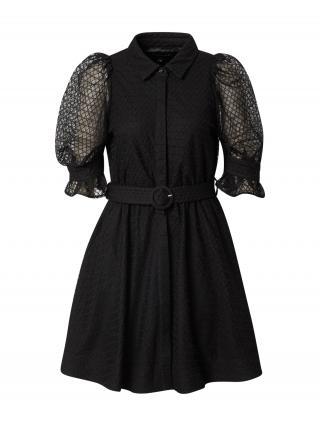 Bardot Košeľové šaty  čierna dámské 34