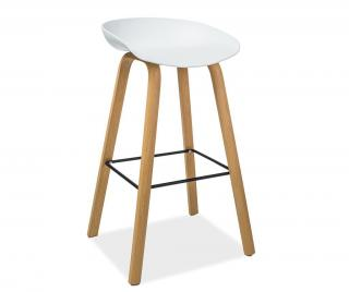 Barová židle Gusti White