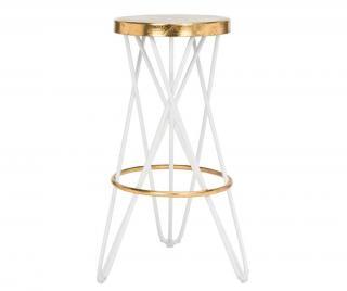 Barová židle Mychelle White Bílá