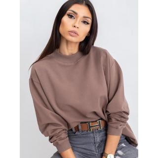 Basic coffee cotton sweatshirt dámské Neurčeno L