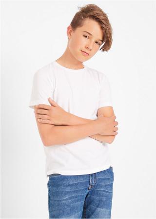 Basic tričko  pánské biela 104/110,116/122,176/182,164/170,152/158,140/146