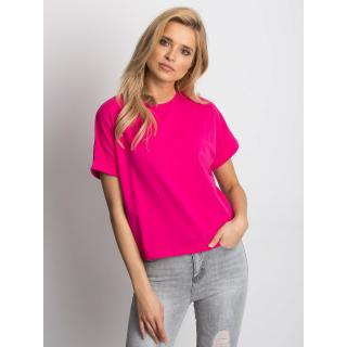 Basic women´s t-shirt made of fuchsia cotton dámské Neurčeno L