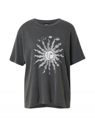 BDG Urban Outfitters Tričko  biela / čierna melírovaná dámské S