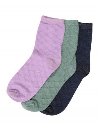 BeckSöndergaard Ponožky  levanduľová / modrá / zelená dámské 37-39