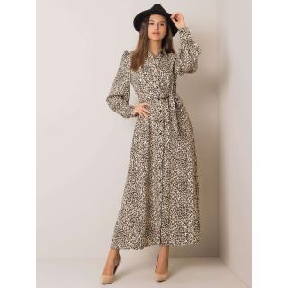 Beige leopard print maxi dress dámské Neurčeno M