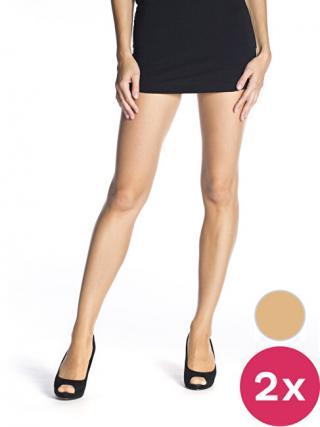 Bellinda Dámska sada pančuchových nohavíc 2 Pack Almond Fly 15 Panty hose BE250000 -116 L dámské