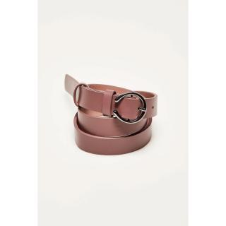 Belt with a decorative buckle - pink dámské Other M