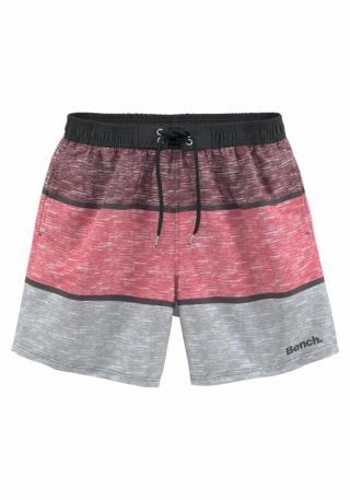 BENCH Plavecké šortky Mac  sivá / staroružová / bordová pánské M